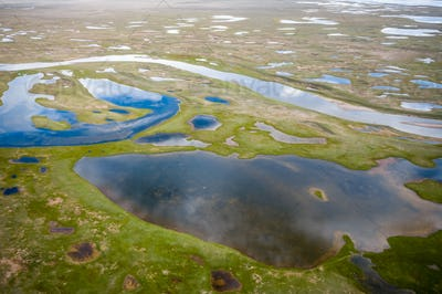 plateau wetland background