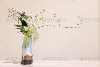 oriental style flower arrangement