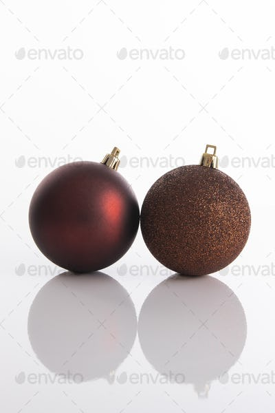 Two Christmas tree ornaments