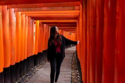 Tourist woman in Fushimi