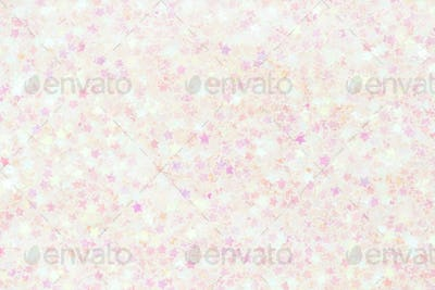 Pastel Background with Transparent Stars Confetti.