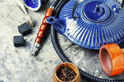 Oriental hookah with kettle