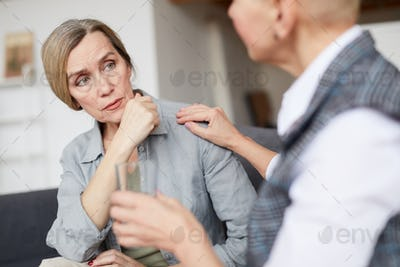 Mature Woman Talking to Therapist