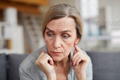 Portrait of Worried Mature Woman