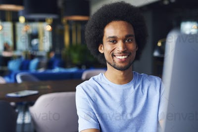 Portrait of African man in the office