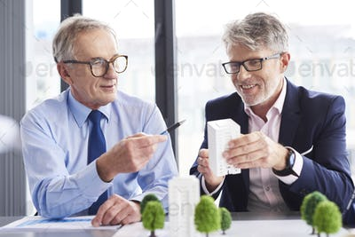 Business partners having a conversation in the office