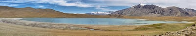 Himalayan lake Kyagar Tso in the afternoon. Korzok, Ladakh, India