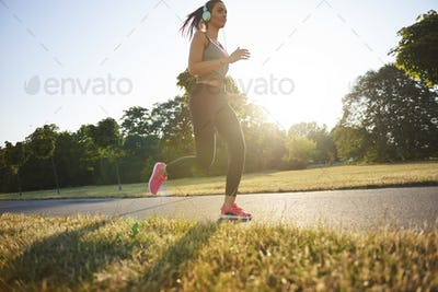 Endorphins during the jogging in the park