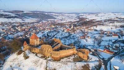 Slimnic fortress. Transylvania, Romania