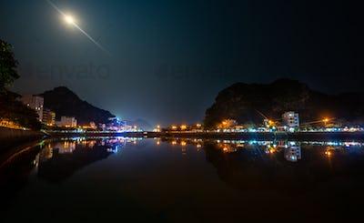 Cat Ba Vietnam at night