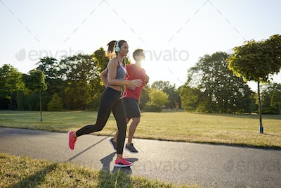Running with partner is more pleasure