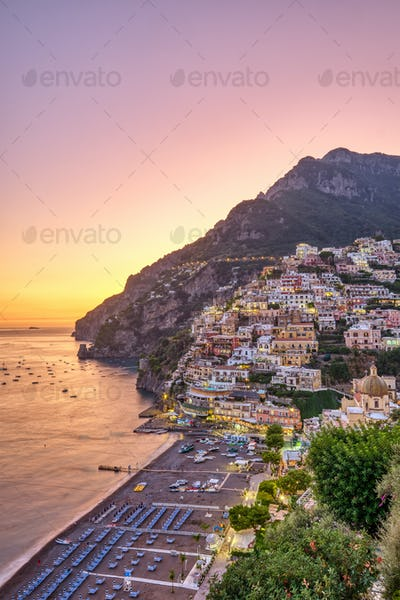 Beautiful Positano on the italian Amalfi coast
