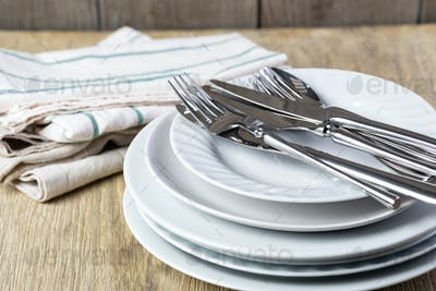plate and cutlery