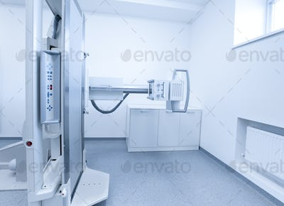 New technologies. Modern X-ray equipment in light medical laboratory