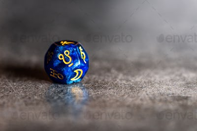 Astrology Dice with symbol of Ketu