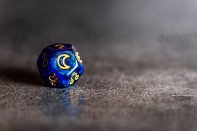 Astrology Dice with symbol of the Moon