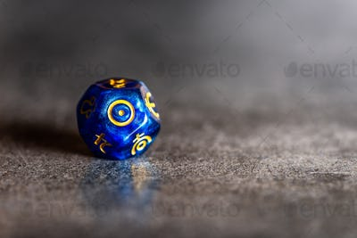 Astrology Dice with symbol of the Sun
