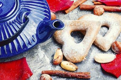 Homemade valentine cookies