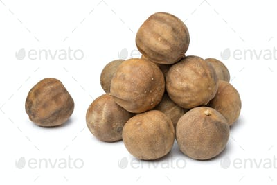 Heap of dried whole white limes