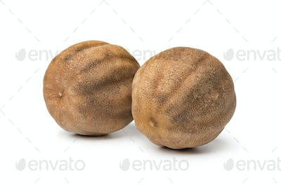 Pair of dried whole white limes