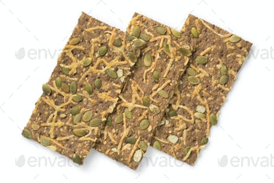 Cheese crackers with pumpkin seed