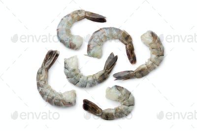 Fresh black tiger shrimp tails