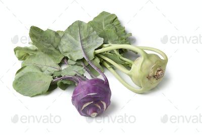 White and purple kohlrabi