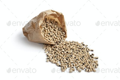 Black eyed peas in a paper sac