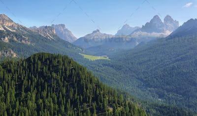 View from Lake Sorapis Trail, Dolomites, Italy