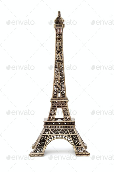 Miniature Eiffel tower souvenir