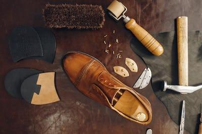 Shoemaker occupation, footwear repair equipment