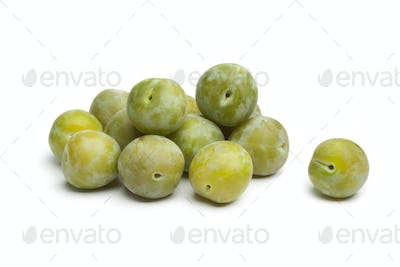 Whole fresh greengage plums