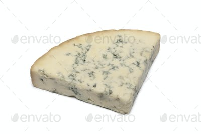 Wedge of Blue Stilton cheese