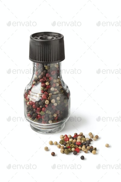 Four seasons pepper in a grinder