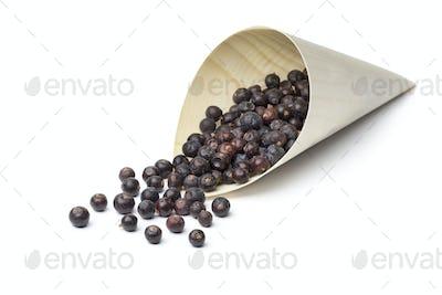 Juniper berries in a sac