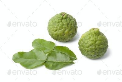 Kaffir limes and leaves