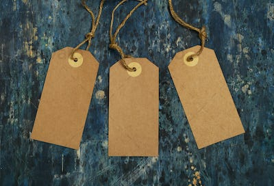 Wooden Background with Cardboard