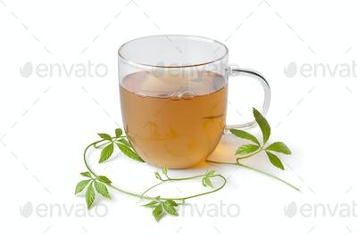 Cup of tea with jiaogulan herb
