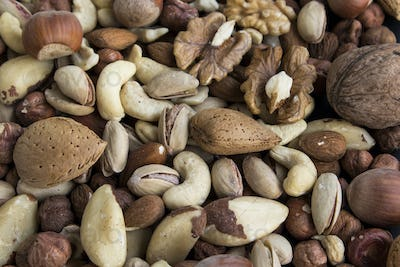 Nuts Mix as a Background