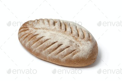 Loaf of French farmers bread with slices