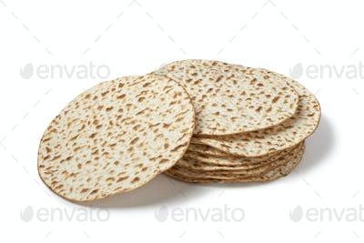 Fresh pile of matzah