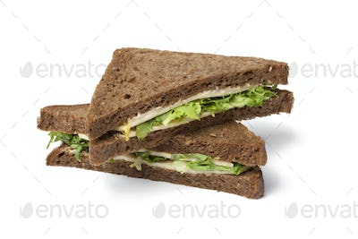 Healthy cheese and salad sandwich