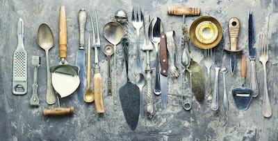 Set cooking utensils