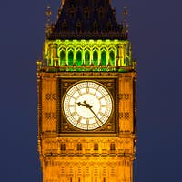 Clocktower with Big Ben at night