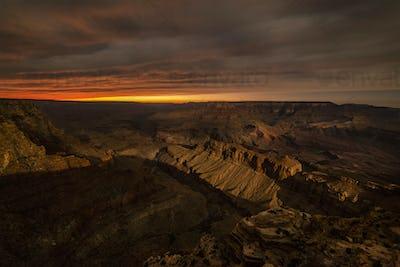 Grand Canyon During moonrise
