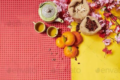 Lunar New Year flatlay