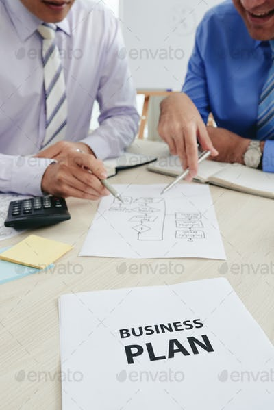 Discussing business plan