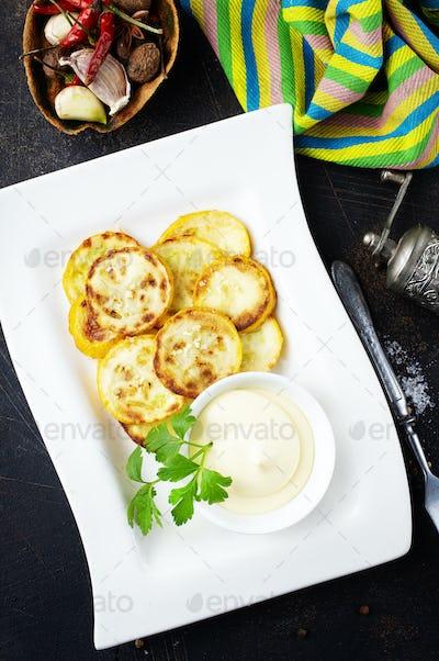 fried yellow zucchini