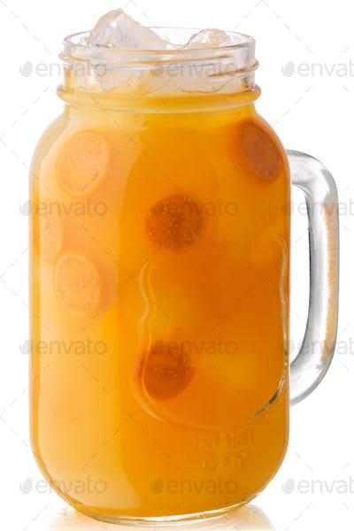 Physalis iced drink jar, paths