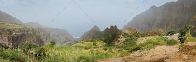 Amazing mountainscape of Ribeira de Janela on Santo Antao Cape Verde